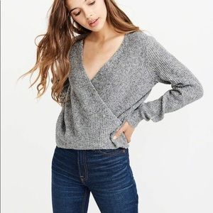 NWOT Abercrombie & Finch Wrap Front Sweater